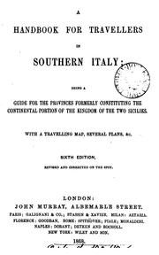 Cover of: Handbook for travellers in Southern Italy by John Murray (Firm)
