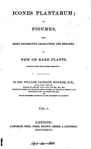 Icones plantarum by Hooker, William Jackson Sir