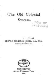 The old colonial system PDF