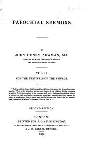 Cover of: Parochial sermons by by John Henry Newman.