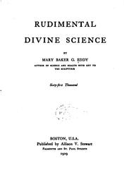 Rudimental divine science by Mary Baker Eddy