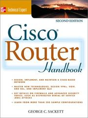 Cisco router handbook by George C. Sackett