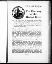 The discovery of the Hudson River by Robert Juet