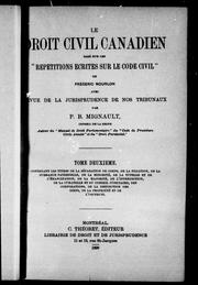 Le droit civil canadien bas PDF