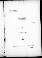 Phases of Quebec law PDF