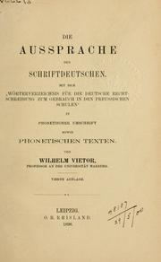 Die Aussprache des Schriftdeutschen by Wilhelm Vitor