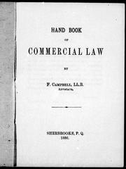 Hand book of commercial law by F. Campbell