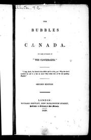 The bubbles of Canada by Thomas Chandler Haliburton