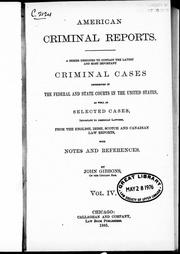 American criminal reports by Gibbons, John