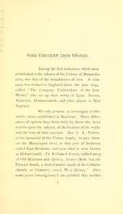 The ancient iron works at Braintree, Mass PDF