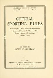 Official sporting rules .. PDF