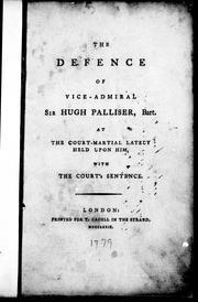 The defence of Vice-Admiral Sir Hugh Palliser, Bart PDF