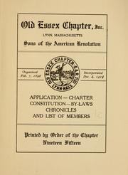 Application, charter, constitution, by-laws, chronicles and list of members.