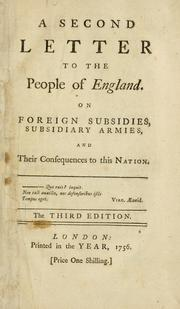 A second letter to the people of England by John Shebbeare