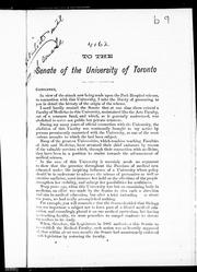 To the Senate of the University of Toronto by Mulock, William Sir