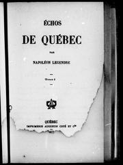 Echos de Qubec by Napolon Legendre