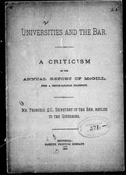 Universities and the bar by S. Pagnuelo