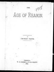 Cover of: The age of reason by by Thomas Paine.