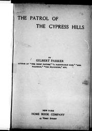 The patrol of the Cypress Hills PDF