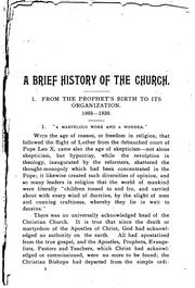 A Brief History of the Church of Jesus Christ of Latter-day Saints: From the .. PDF