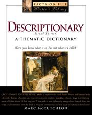 Descriptionary by Marc McCutcheon