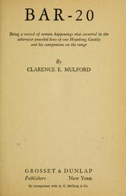 Cover of: Bar-20 by Clarence Edward Mulford