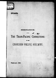 Memorandum by Canadian Pacific Railway Company