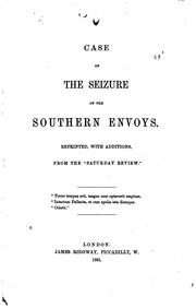 Case of the seizure of the southern envoys by John George Phillimore