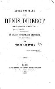 Etude nouvelle sur Denis Diderot, l'encyclop PDF