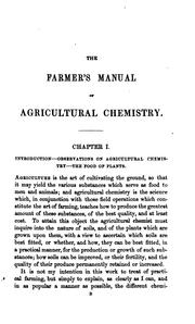 The farmer's manual of agricultural chemistry, with instructions respecting the diseases of .. PDF