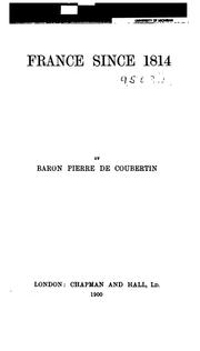 France since 1814 by Pierre de Coubertin