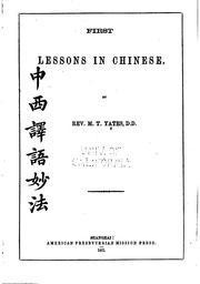First Lessons in Chinese PDF