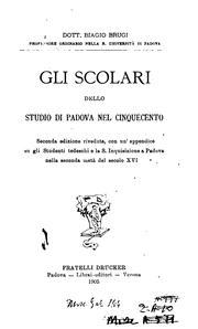 Gli scolari dello Studio di Padova nel Cinquecento PDF
