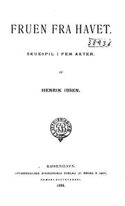 Fruen fra havet by Henrik Ibsen
