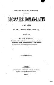 Glossaire roman-latin du XVe siècle: (ms. de la Bibliothèque de Lille)
