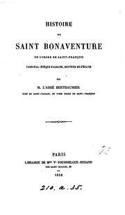 Histoire de saint Bonaventure