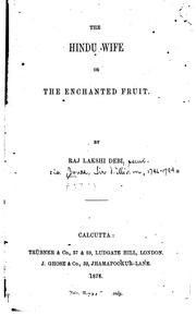 The Hindu Wife; Or, The Enchanted Fruit PDF