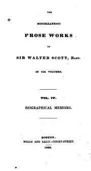 The miscellaneous prose works of Sir Walter Scott by Sir Walter Scott