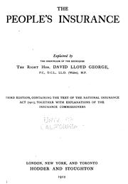The people's insurance by David Lloyd George