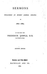 Sermons preached in Rugby school chapel, in 1862-1867 PDF