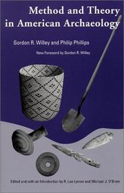 Method and theory in American archaeology by Gordon Randolph Willey