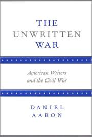 The unwritten war by Aaron, Daniel
