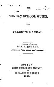 The Sunday School Guide, and Parent's Manual PDF