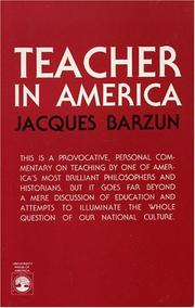 Teacher in America by Jacques Barzun
