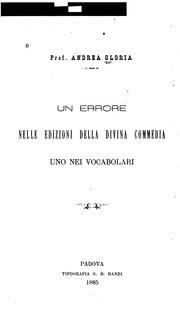 Un errore nelle edizioni della Divina Commedia: uno nei vocabolari PDF
