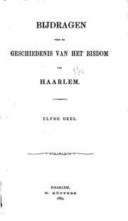 Haarlemsche bijdragen: bouwstoffen voor de geschiedenis van het bisdom Haarlem