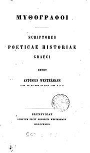 GMucográfoi. Scriptores poeticae historiae Graeci, ed. A. Westermann