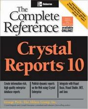 Crystal reports 10 by Peck, George