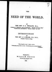 The need of the world PDF