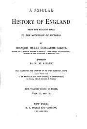 A Popular History of England from the Earliest Times to the Accession of .. by Franois Guizot